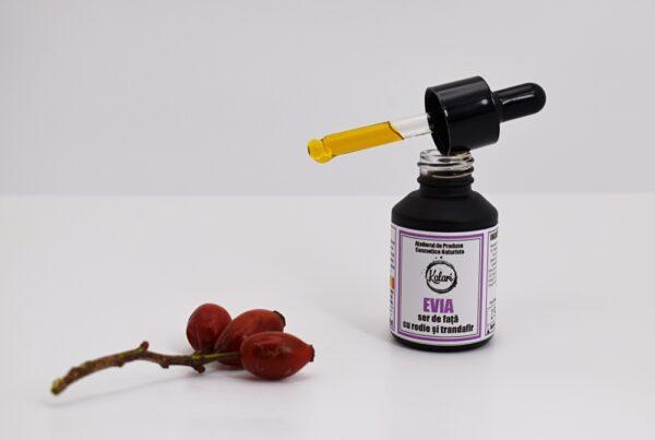 Evia - ser de fata, cu 9 uleiuri si 2 vitamine. Ulei de trandafir salbatic & Ulei de rodie. Produs hand made, in Romania. KALARI - cosmetice naturiste.