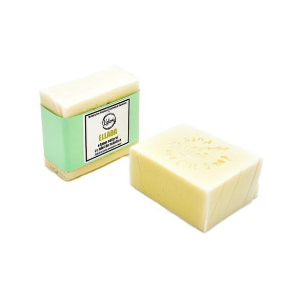 Ellada - sapun solid, natural, cu ulei de masline extravirgin, fabricat prin metoda la rece. Produs hand made, in Romania. KALARI - cosmetice naturiste.