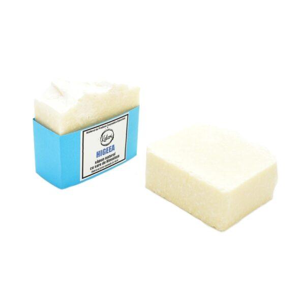 Higeea - sapun solid, natural, cu sare de mare si de Himalaya, fabricat prin metoda la rece. Produs hand made, in Romania. KALARI - cosmetice naturiste.