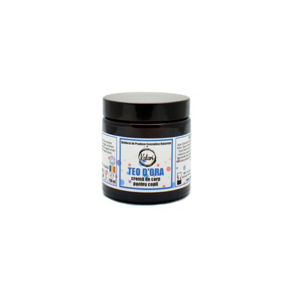 Teo dOra - crema de corp pentru copii, cu ulei de tamanu, extract de arnica si vitamine. Produs hand made, in Romania. KALARI - cosmetice naturiste