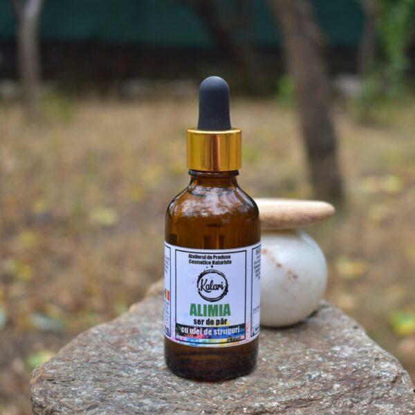 Alimia - ser pentru par cu ulei de samburi de struguri si ulei esential de cedru de Atlas. Produs hand made, in Romania. KALARI - cosmetice naturiste.