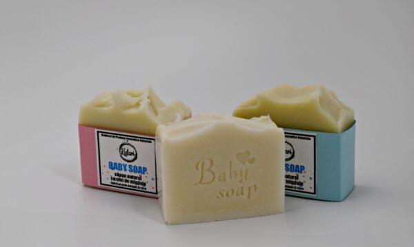 Baby Care - set cosmetice pentru copii: crema de corp si sapun natural. Produs hand made, in Romania. KALARI - cosmetice naturiste.