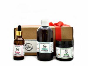 Hair Care - set produse cosmetice pentru par: sampon, balsam si ulei pentru varfuri de par. Produse hand made, in Romania. KALARI - cosmetice naturiste.