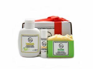 Set Cadou Kalari Mini - crema de maini, strugurel si sapun solid. Produs hand made, in Romania. KALARI - cosmetice naturiste.