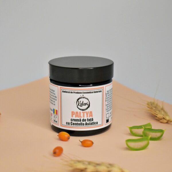 Paltya - crema de fata, cu Centella Asiatica, extract de Commiphora Mukul, ulei de rodie si catina. Produs hand made, in Romania. KALARI - cosmetice naturiste.