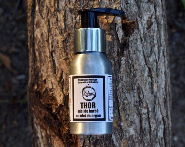 Thor - balsam de barba, cu ulei de argan, ulei de pracaxi si vitamina E. Produs hand made, in Romania. KALARI - cosmetice naturiste