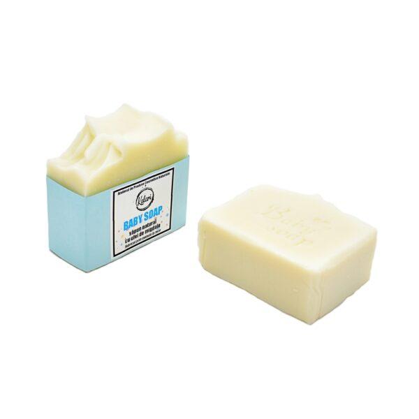 Baby Soap - sapun natural pentru copii, cu unt de shea, ulei de migdale, fabricat prin metoda la rece. Produs hand made, in Romania. KALARI - cosmetice naturiste